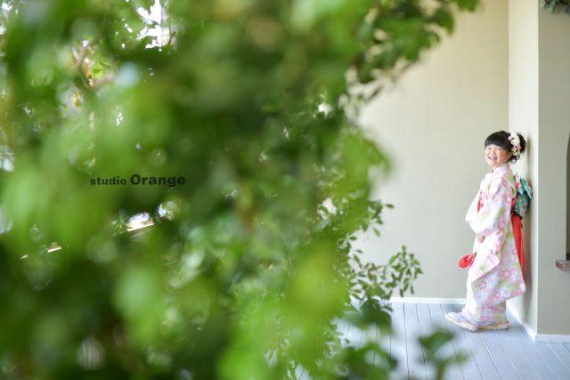 奈良市 生駒市 帝塚山 富雄 木津川市 精華町 登美ヶ丘 スタジオレンジ 写真館 フォトスタジオ 写真 春日大社 生駒大社 菅原天満宮 帯解寺 率川神社(いさがわじんじゃ) 姉弟撮影 桜模様 ピンクの着物 レンタル衣装