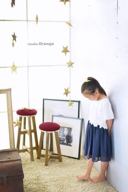 女の子 私服 お誕生日撮影 バースデーフォト 奈良市 写真館 スタジオオレンジ