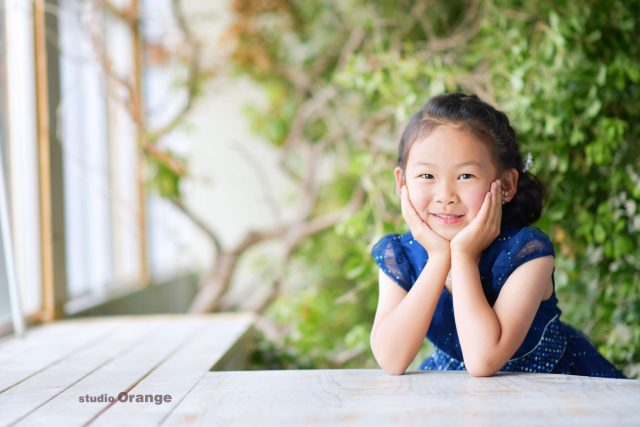 女の子 ドレス お誕生日撮影 バースデーフォト 奈良市 写真館 スタジオオレンジ