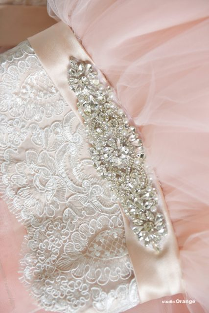 ピンク ドレス 女の子 ビジュー