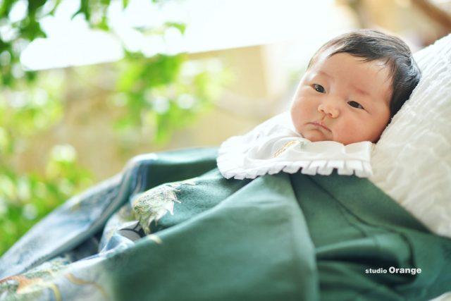 お宮参り 百日記念 着物 赤ちゃん 男の子 奈良市 写真館 スタジオレンジ