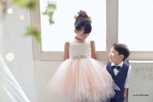 七五三 兄弟 姉妹 7歳 3歳 着物 ドレス 兄弟撮影