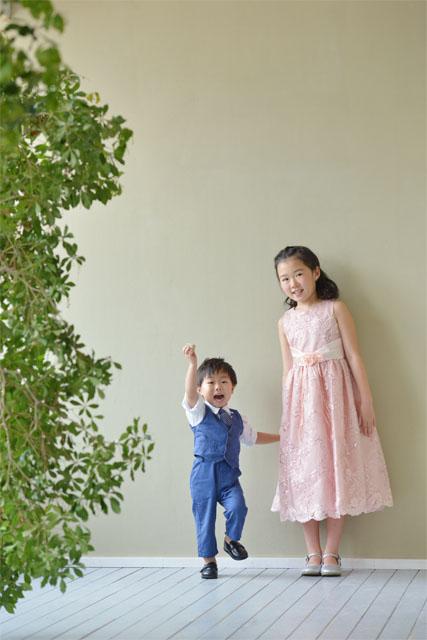 バースデー 撮影 兄弟 お姉ちゃん 弟 ドレス タキシード スーツ