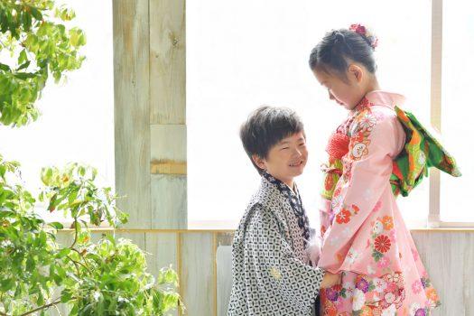七五三 姉弟撮影 着物 袴 ナチュラル