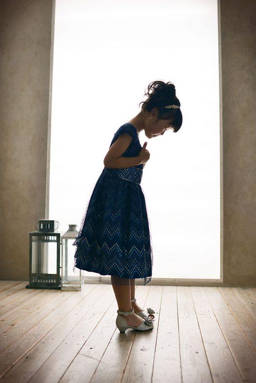 バースデー ドレス 青