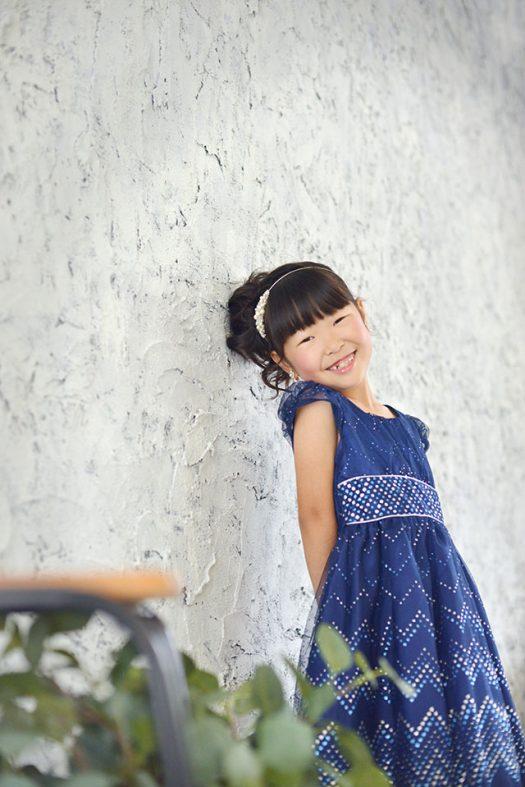 バースデー ドレス 青 女の子