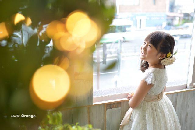 七五三 7歳 女の子 ドレス 洋装 奈良市 写真館 スタジオオレンジ
