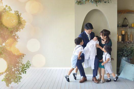 お宮参り 家族撮影