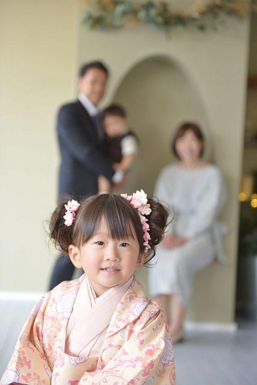七五三 3歳 女の子 ピンク 着物 オリジナル