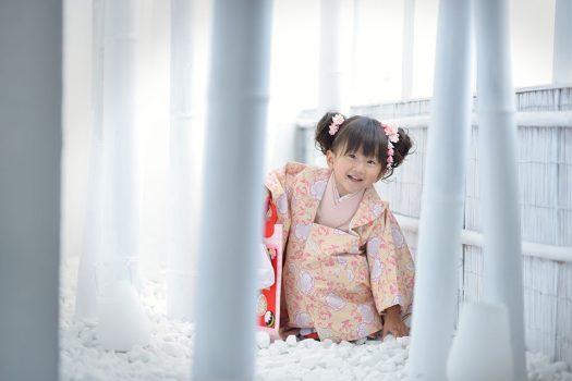 七五三 女の子 3歳 オリジナル着物 ピンク
