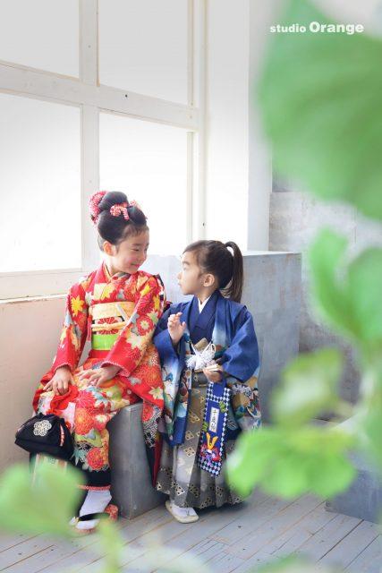 七五三 日本髪 赤い着物 姫 侍