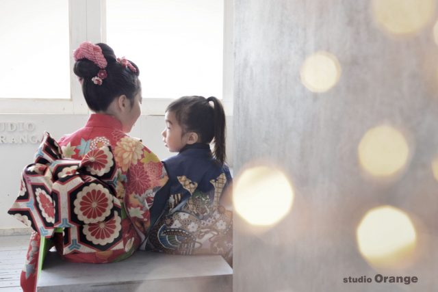 七五三 姉弟撮影 日本髪