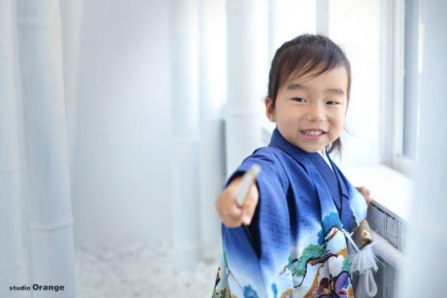 七五三 3歳男の子 青い着物