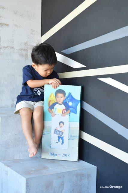 奈良 写真館 スタジオ おしゃれ誕生日 バースデーフォト 男の子 持ち込み