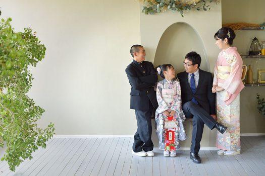 七五三 家族撮影 7歳 女の子