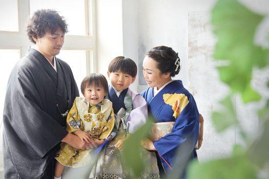 七五三 袴 家族撮影