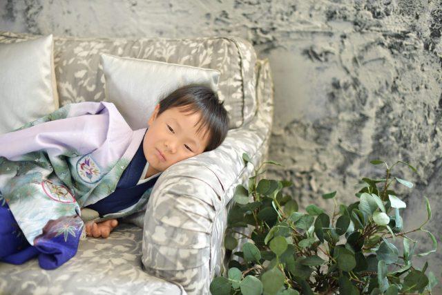 男の子 着物 5歳 オフショット