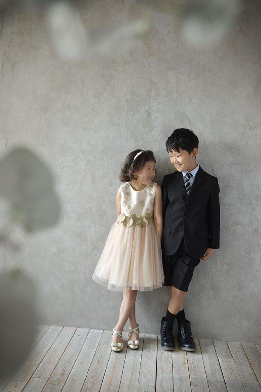 兄妹撮影 洋装 新作ドレス