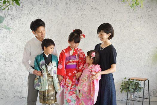 七五三 家族撮影 着物 袴