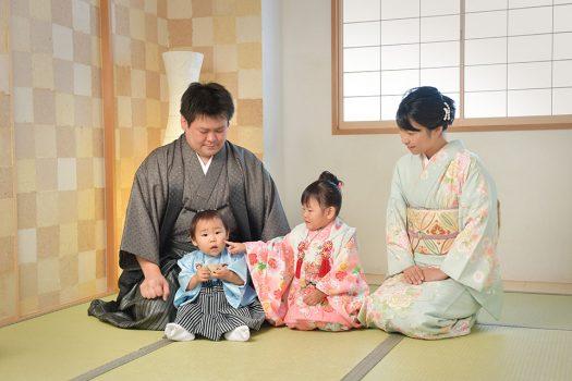 七五三 家族撮影 着物 3歳