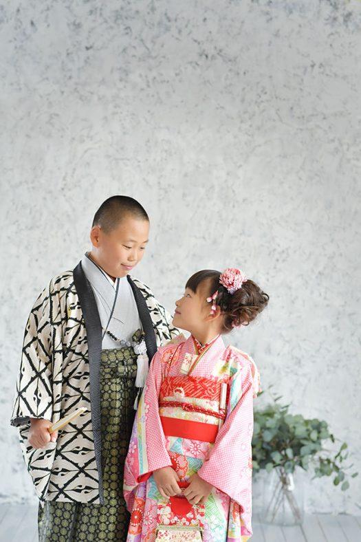 兄妹撮影 和装 羽織袴
