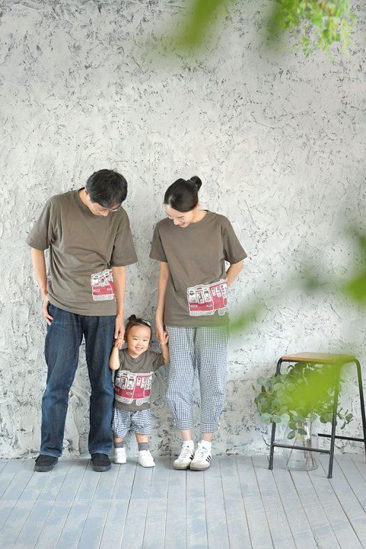 私服 家族撮影