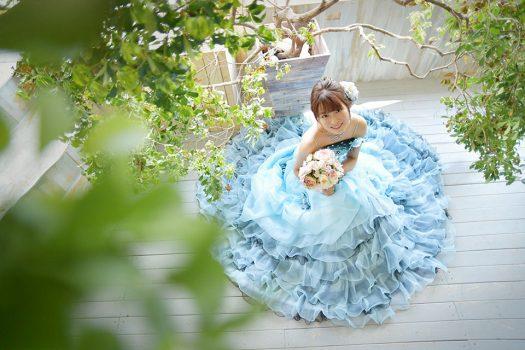 七五三前撮り ドレス ブルー