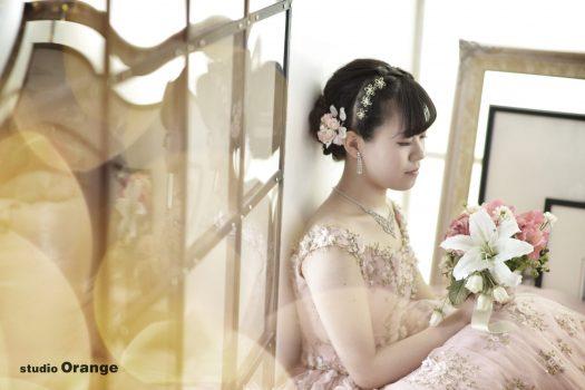 髪飾り ピンクのドレス 成人式 前撮り