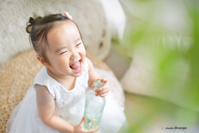 誕生日 バースデー 女の子 2歳 ドレス 奈良 写真館 スタジオ