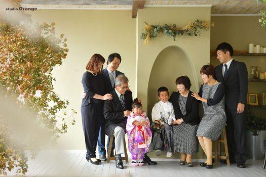大集合 3家族 3世代 七五三 家族撮影