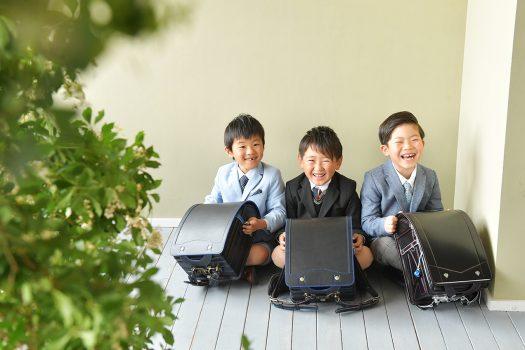 入学 小学校入学 男友達 友達同士 ランドセル