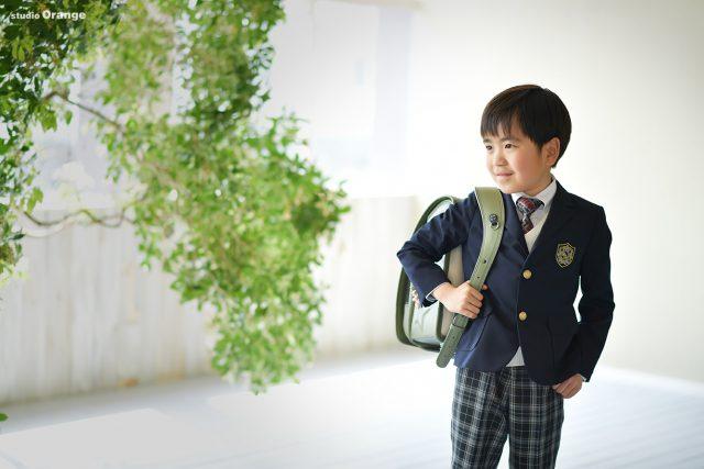 小学校入学 緑のランドセル