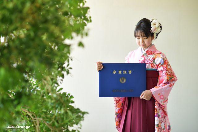 小学校卒業 袴 12歳女の子 卒業証書
