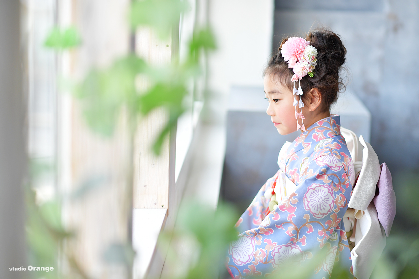 七五三 7歳女の子 藤色のお着物