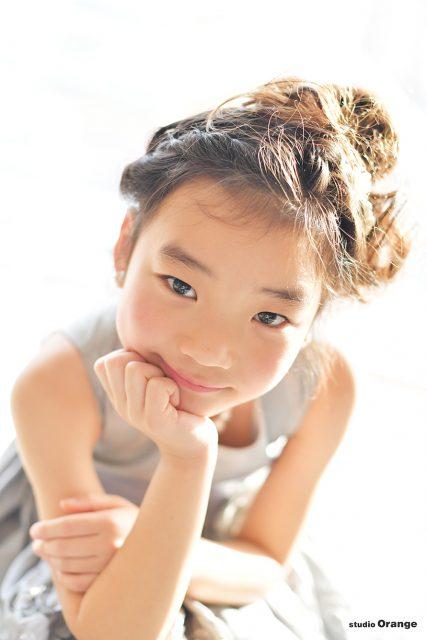 七五三 7歳女の子 シルバーのドレス