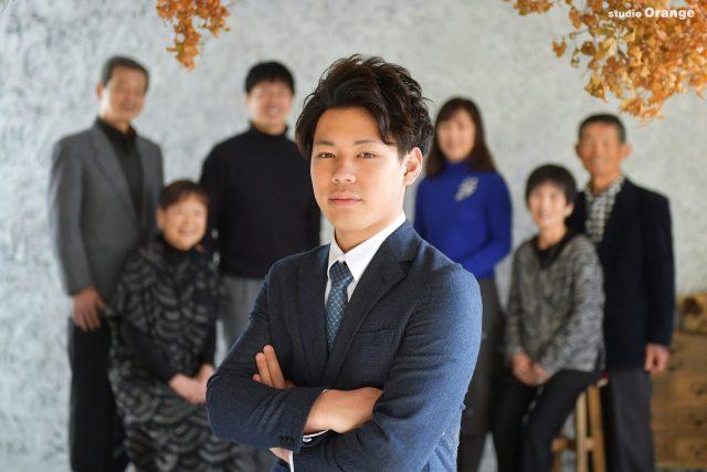 男性成人 家族撮影 東京の大学