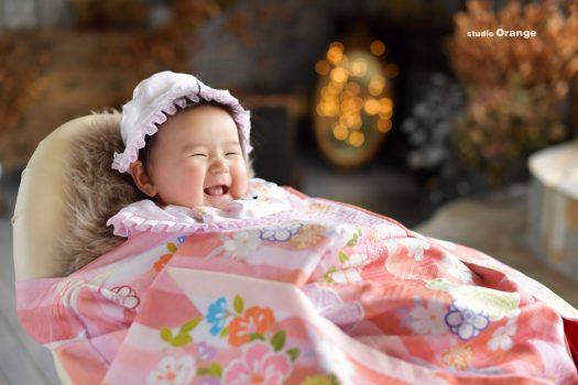 奈良 スタジオ お宮参り 初着 持込初着 着物 お祝い着 女の子