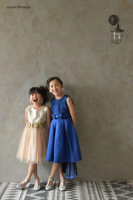 女の子 ドレス 753 七五三 かわいい 子供 七歳 スタジオ 奈良
