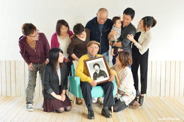 米寿 88歳 長寿の祝い 家族撮影 家族写真