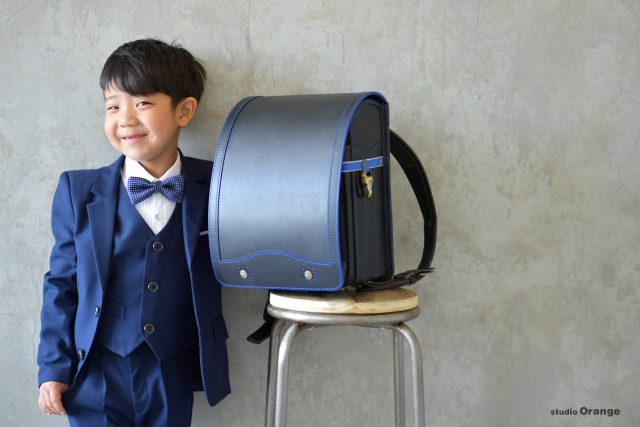 入学 ランドセル 紺色のランドセル 7歳男の子