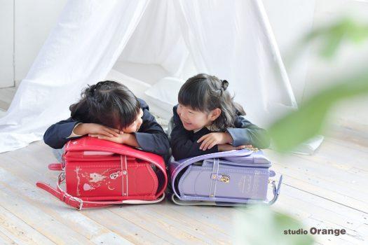 女の子 姉妹 ランドセル 入園 入学 卒業