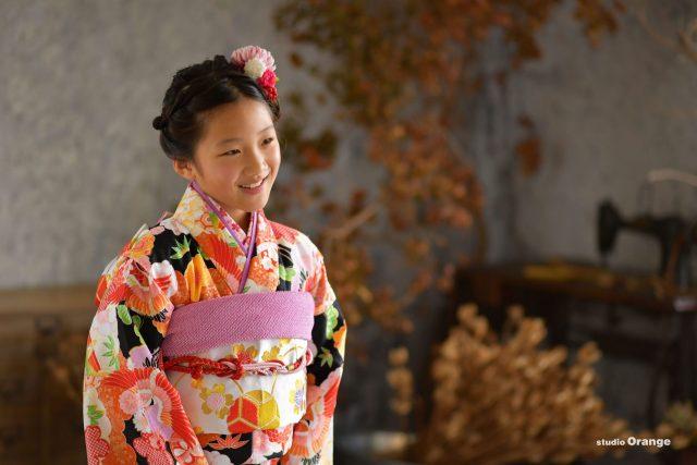 スタジオ フォトスタジオ 奈良 女の子 十歳 10歳 10歳記念 2分の1成人 ハーフ成人 着物