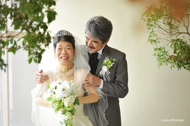 結婚20年記念 ウェディングドレス タキシード 夫婦