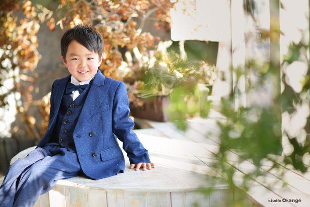 6歳男の子 お誕生日撮影 スタジオ衣装