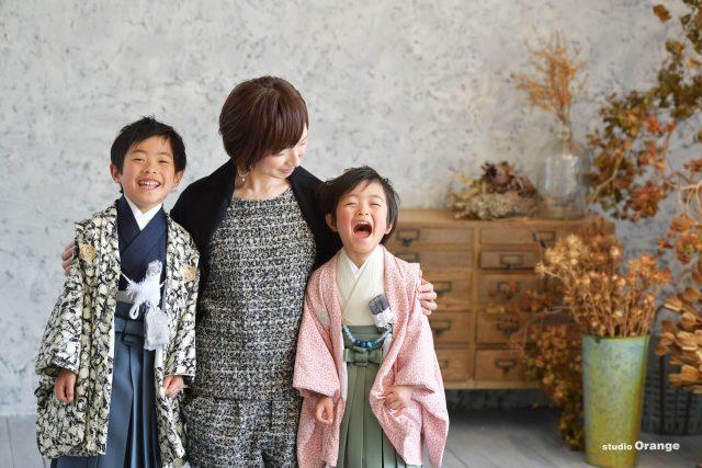 七五三 兄弟 3歳 5歳 男の子 着物 かっこいい かわいい 753 奈良 スタジオ