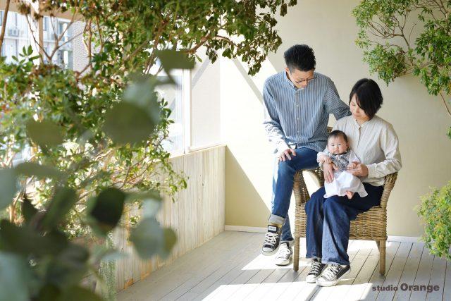 お宮参り 着物 家族写真 写真 奈良 写真館 スタジオオレンジ