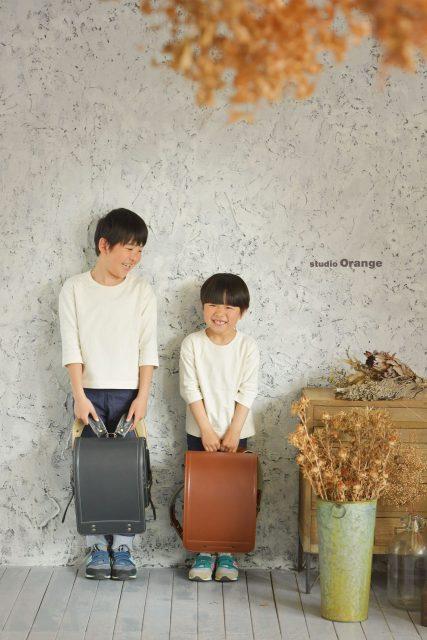 入学 卒園 入園 卒業 奈良 スタジオ ランドセル かっこいい かわいい おしゃれ 男の子 2ショット 兄弟 おそろい