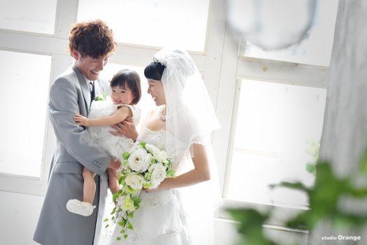 フォトウェディング ママ婚 写真だけの結婚式 ウェディングドレス 娘と一緒