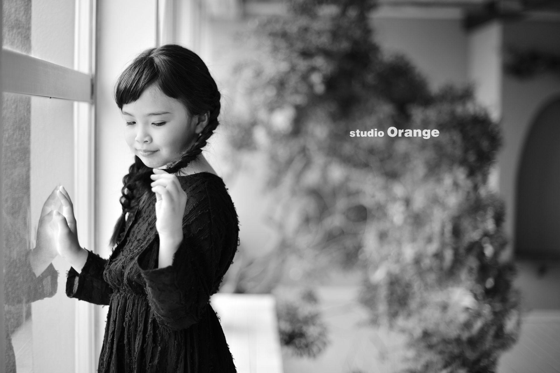 誕生日フォト 9歳 おさげ 女の子