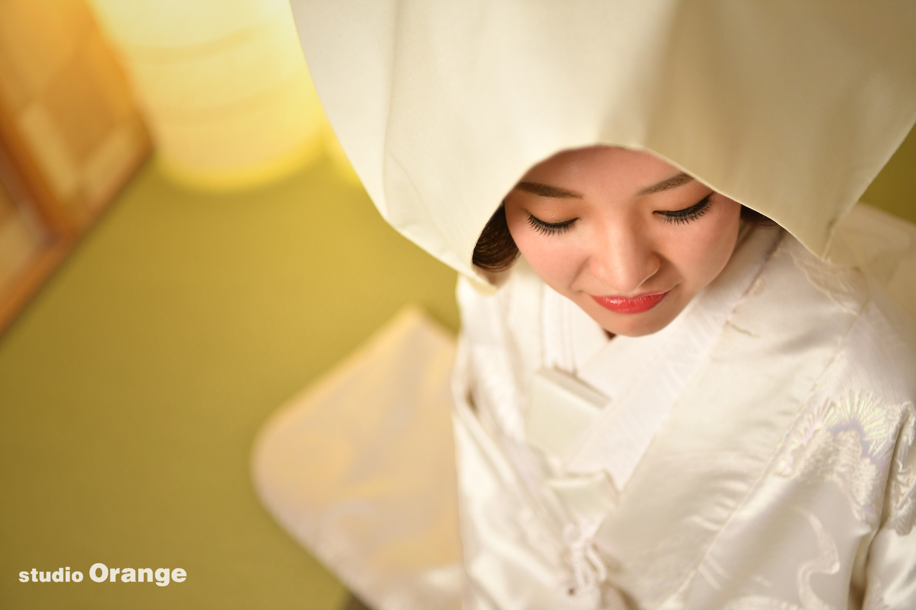 ウェディングフォト フォトウェディング かつら 綿帽子 白無垢 白打掛